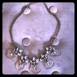 Clear and diamond statement necklace